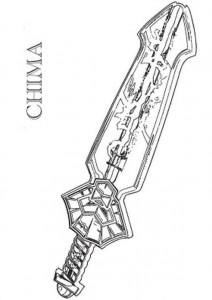 kleurplaat lego chima Lennox sword