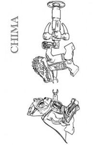 kleurplaat lego chima Lennox vs Cragger