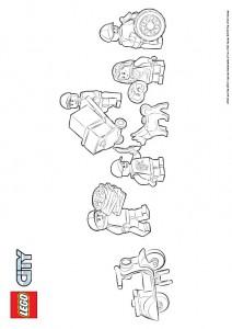 kleurplaat Lego City (16)