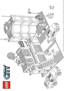 kleurplaat Lego City (9)