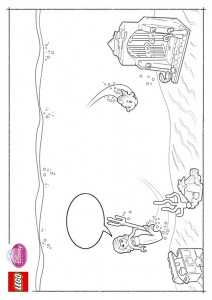coloring page Lego Disney Princesses (1)