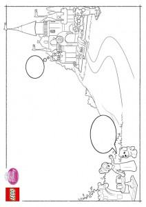 kleurplaat Lego Disney Prinsessen (3)