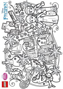 coloring page Lego Disney Princesses (6)