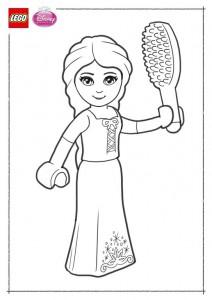kleurplaat Lego Disney Prinsessen (8)