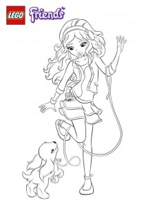 coloring page lego friends emma