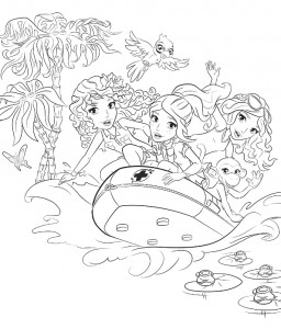 coloring page Lego Friends