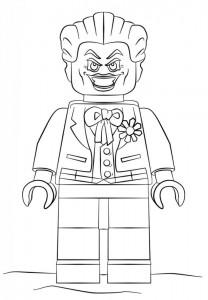 kleurplaat lego joker