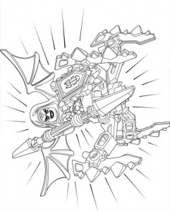 coloring page lego nexo knights 10