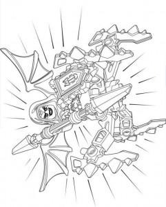pagina da colorare lego nexo knights 10