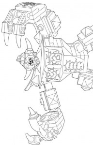 pagina da colorare lego nexo knights 12
