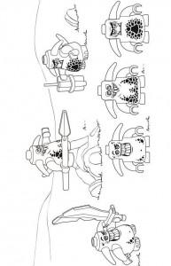 pagina da colorare lego nexo knights 13