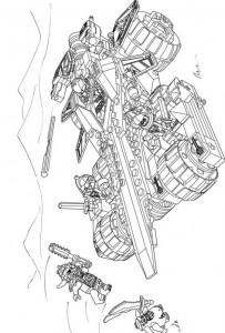 pagina da colorare lego nexo knights 14