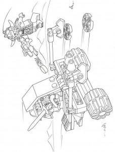 pagina da colorare lego nexo knights 15