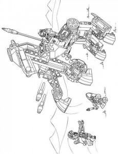 pagina da colorare lego nexo knights 16