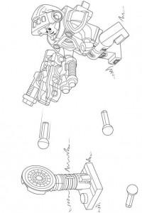 pagina da colorare lego nexo knights 17