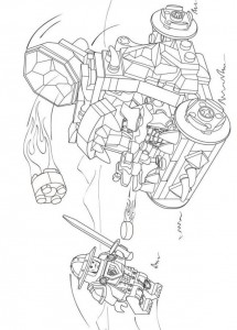 coloring page lego nexo knights 18