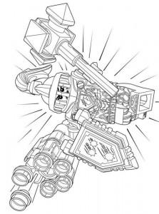pagina da colorare lego nexo knights 5
