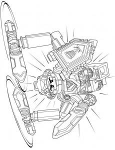 pagina da colorare lego nexo knights 6