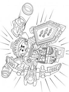 målarbok lego nexo riddare 7