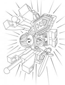 pagina da colorare lego nexo knights 8