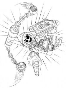 pagina da colorare lego nexo knights 9