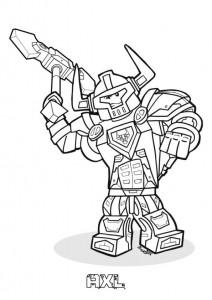 pagina da colorare Lego Nexo Knights
