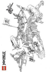 målarbok Lego Ninjago (35)