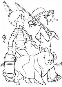 coloring page Nice fishing