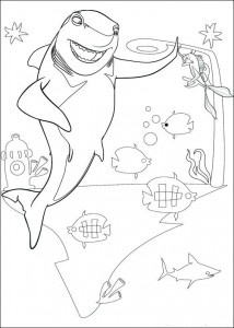 coloring page Lenny the shark