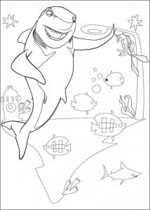 målarbok Lenny hajen