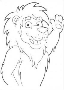 coloring page Leon de Leeuw