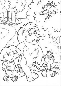 coloring page Leon, Dora and Boots (2)