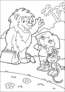 målarbok Leon, Dora och stövlar (4)
