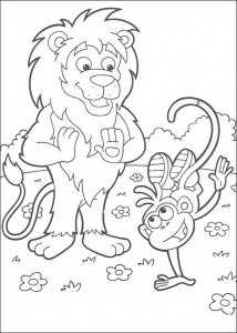 coloring page Leon and Boots