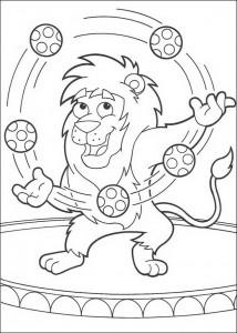 kleurplaat Leon jongleert (1)