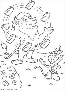 Leon coloring page juggles sandwiches