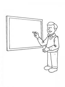 pagina da colorare Insegnante