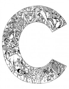 coloring page Letter C.