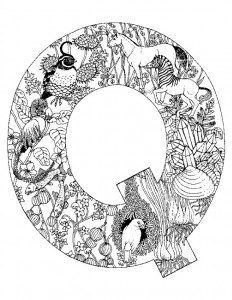 coloring page Letter Q