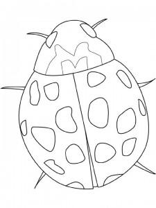 målarbok Nyckelpiga