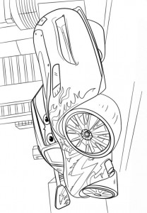 coloring page lightning mcqueen 2