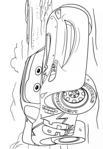 coloring page lightning mcqueen