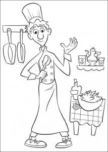 kleurplaat Linguini (4)