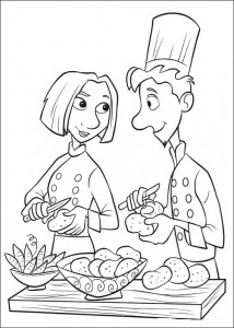coloring page Linguini and Colette