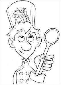coloring page Linguini and Remy