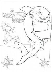 coloring page Lino the shark (1)