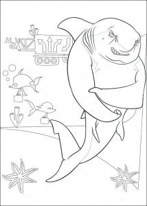 kleurplaat Lino de haai (1)