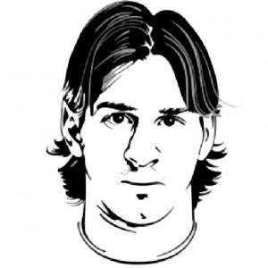 kleurplaat Lionel Messi