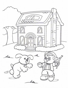 coloring page Little People (1)
