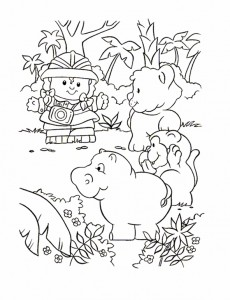 kleurplaat Little People (13)